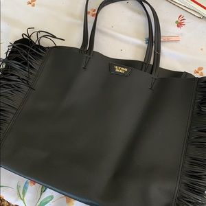 Brand New - Victoria's Secret Black Fringe Purse